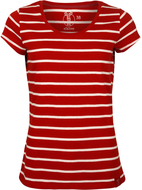 Elkline Anna T-Shirt Women chilipepperred-white
